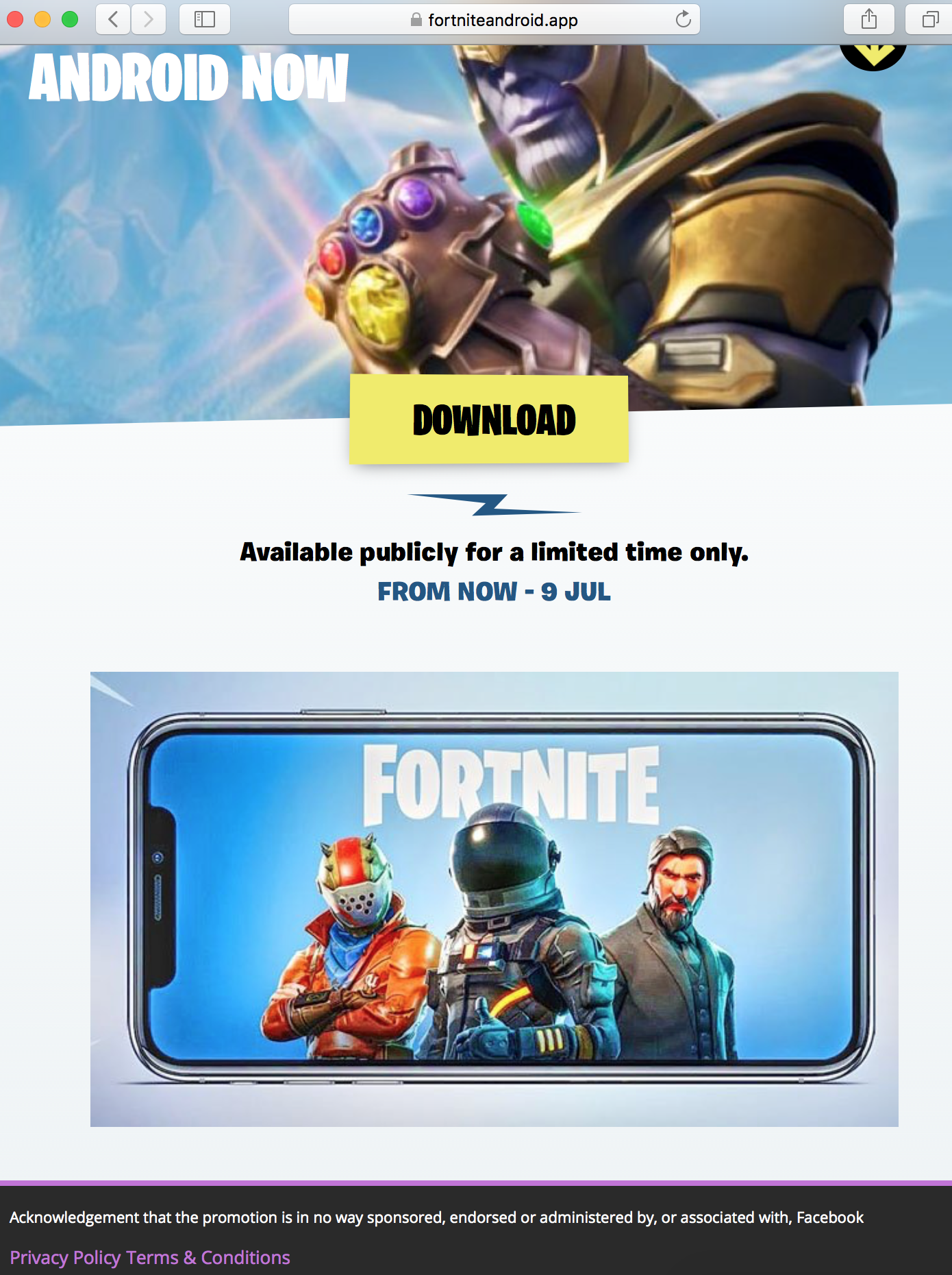 Fortnite for android app release date