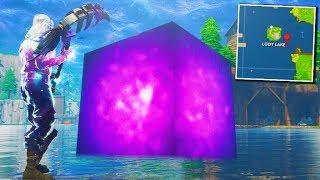 Fortnite cube dans loot lake