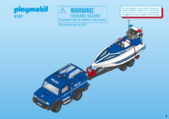 Playmobil police et bateau
