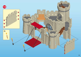 Chateau fort playmobil notice 6001