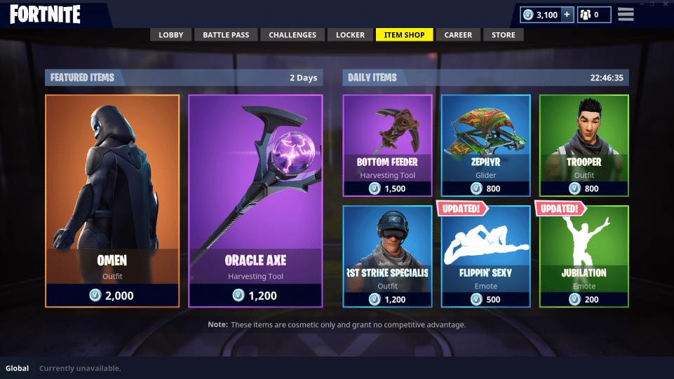 All skins in fortnite cost