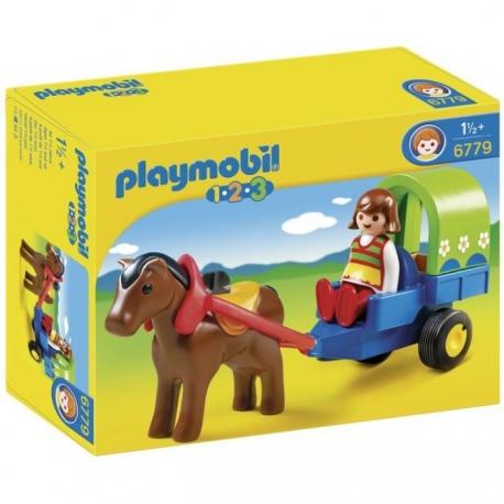 Playmobil charette cheval