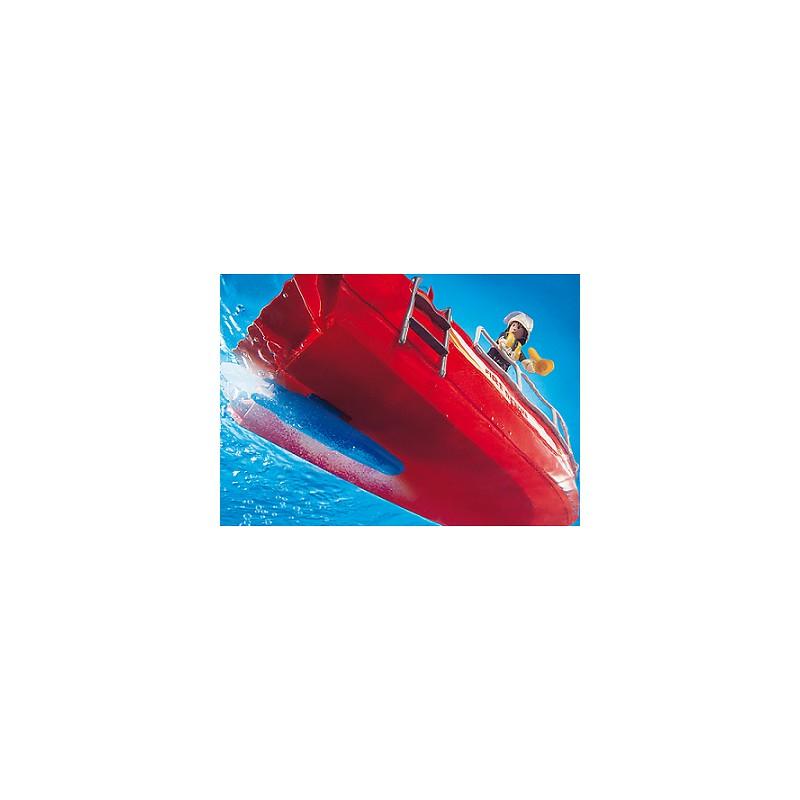 Playmobil city action łódź strażacka z armatką wodną 3128