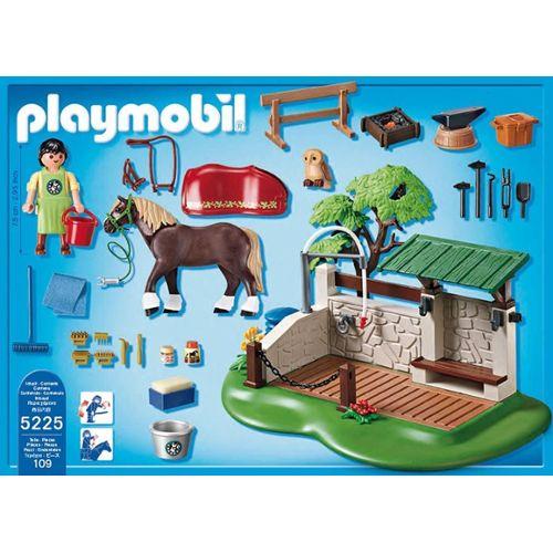 Playmobil lavage chevaux 5225