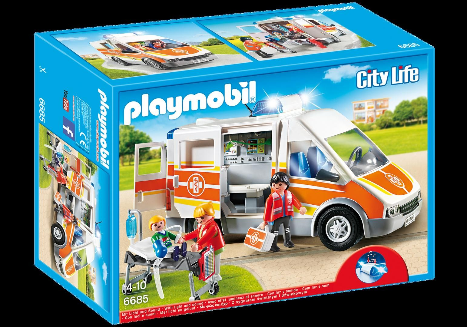 Playmobil ambulance lights and sounds