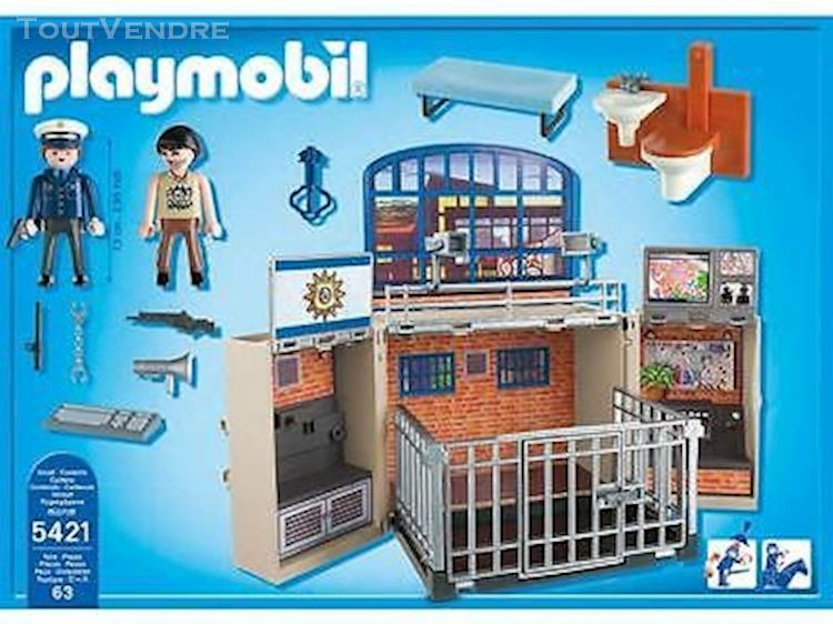 Playmobil commissariat de police transportable