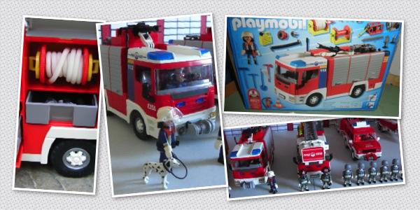 Playmobil camion de pompier pas cher
