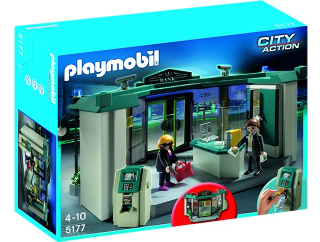 Playmobil city action bank robbery