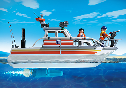 Playmobil city action rescue boat with water hose