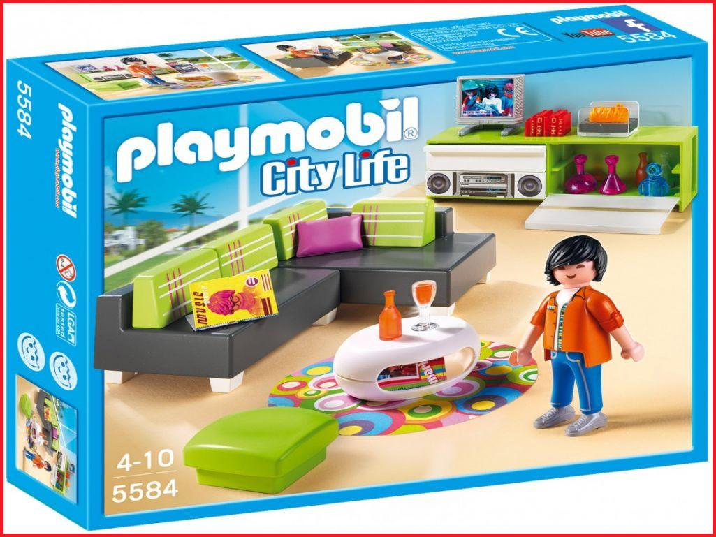 Playmobil city life salon moderne