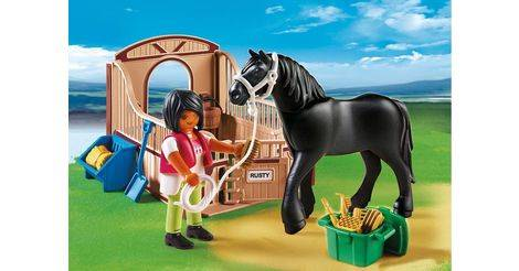 Playmobil cheval frison