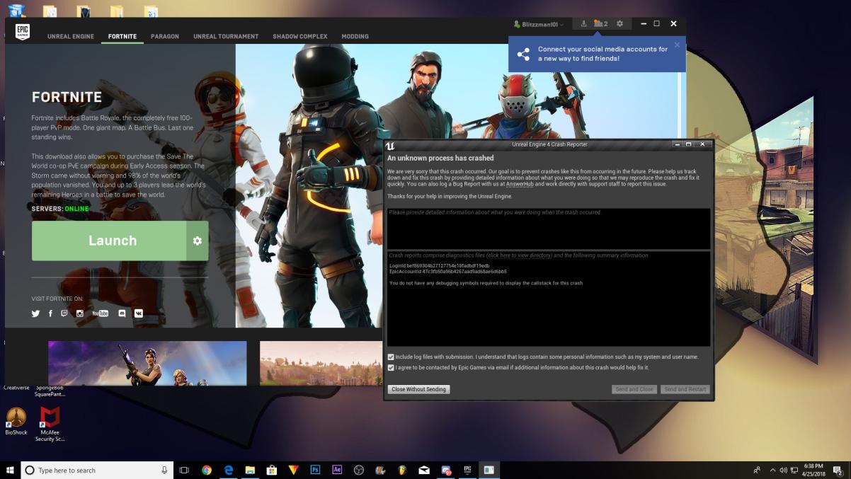 Fortnite help.epic games