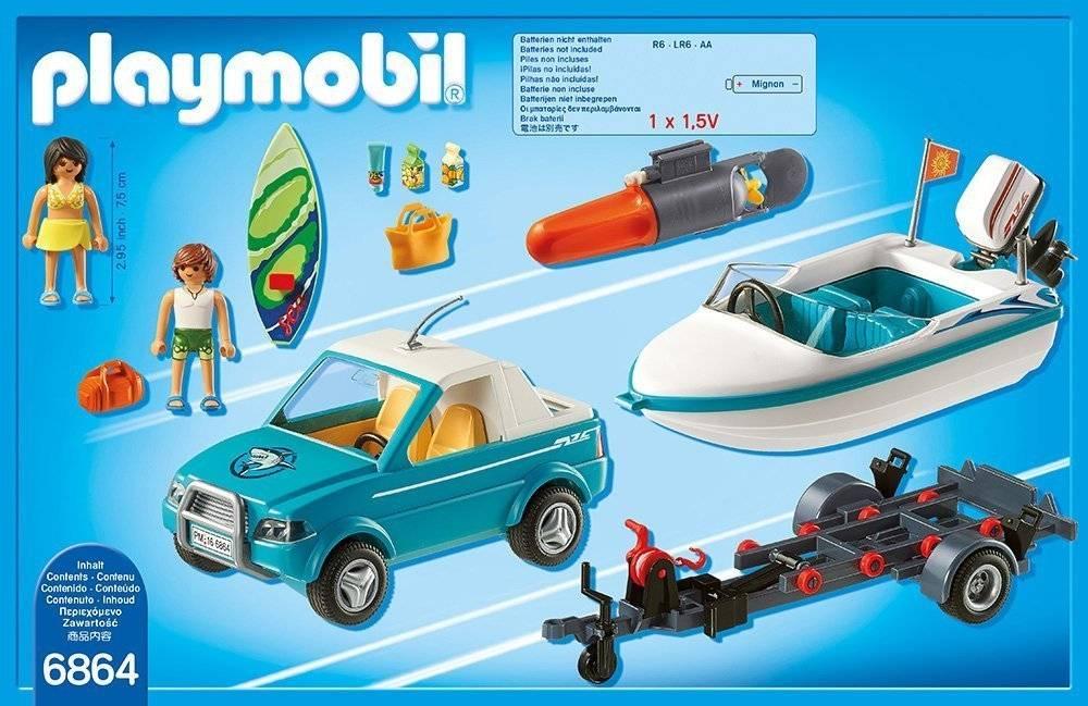 Playmobil bateau et voiture